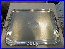Grand & superbe plateau à thé métal argenté art nouveau 1900 Alfenide Tea tray