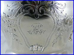 Grande Tasse Et Sous Tasse A Chocolat Art Nouveau Argent Massif N. Vautrin 1844