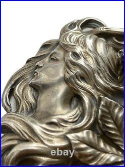 Gustave OBIOLS (1858 1910) Boucle Ceinture Argent Femme Art Nouveau Jugendstil