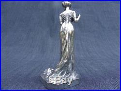Henri Varenne 1860 / 1933 sculpture art nouveau en bronze argenté