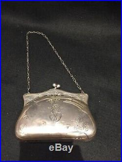 Imperial Russian Silver Purse Sac Minaudiere Argent Russe Art Nouveau