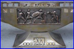Imposant centre de table cristal et métal argenté art nouveau WMF Jugendstil