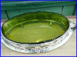 Jardinière Art Nouveau Argent Plaqué Gallia Silver Silber Jugendstil Ginko 4650