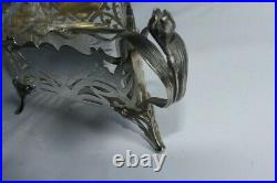 Jardinière Art nouveau Jugendstil argent cristal Allemagne Wilhelm Binder 49