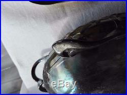 Jardinière art nouveau métal argenté Majorelle