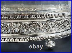 Jardinière en cristal et argent massif art nouveau Minerve