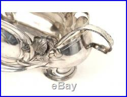 Jardinière en métal argenté époque art nouveau XIXè