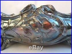Jardiniere métal argenté louis MAJORELLE victor SAGLIER art nouveau décor au gui