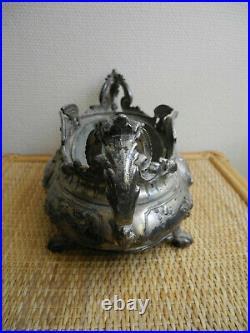 Jardinière métal argenté orfèvre XIXe french antiquity 19th antike art nouveau