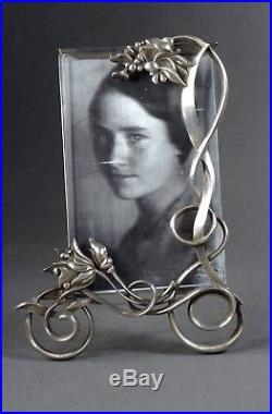 Joli Cadre Photo Métal Argenté Art-nouveau