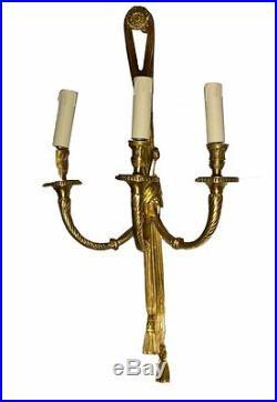 Laiton Antique Applique Lampe Murale Luminaires Style Mur Baroque Art Ancienne