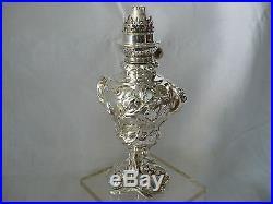 Lampe A Huile En Metal Argente Art Nouveau Debut Du XX Eme Siecle