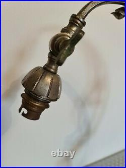 Lampe bronze Argenté Pour Tulipe Daum & Muller