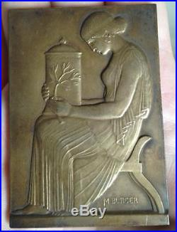 Médaille Argent Massif Burger Ramée Art nouveau Pharmaceutique et colonies