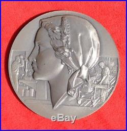 Médaille Argent massif 320Gr Art-Nouveau P. Turin Industrie mécanique XXe