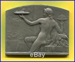 Médaille Art Nouveau LE CLUB DES CENT gastronomie Nue par Lamourdedieu argent
