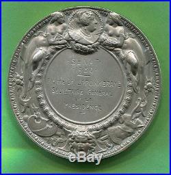 Médaille Art Nouveau SÉNAT 1930 par Ch. Pillet nominatif argent massif