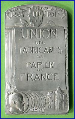 Médaille Art Nouveau UNION des FABRICANTS des PAPIER de FRANCE Dautel argent