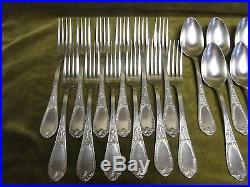 Ménagère 25p métal argenté Ercuis iris art nouveau dinner forks soup spoons