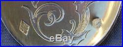 MAGNIFIQUE SERVICE A GLACE ARGENT MASSIF MINERVE ART NOUVEAU DECOR AUX IRIS
