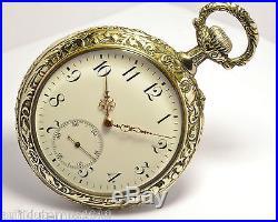 montre ancienne gousset longines en metal argente 1900 art nouveau pocket watch art nouveau argent. Black Bedroom Furniture Sets. Home Design Ideas