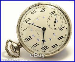 Montre Ancienne Gousset Zenith Argent Art Nouveau Vintage Silver Pocket Watch