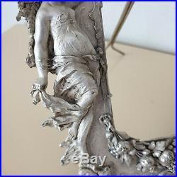 Magnifique Cadre à photo métal argente époque art nouveau porte photo à poser