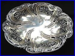 Magnifique coupe ajourée sur piédouche en argent massif poinçon minerve