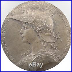 Médaille Roty Centenaire de la Banque de France 1900 argent Art Nouveau