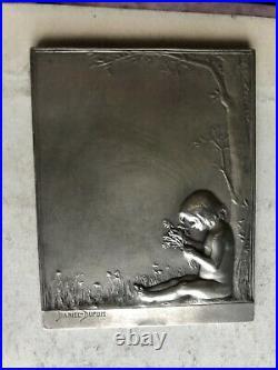 Médaille en argent massif Daniel Dupuis Art Nouveau 1892 horticulture 80,5 g