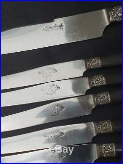Ménagère Couteau Ébène Art Nouveau 27 Pièces Métal Argenté Flatware Set