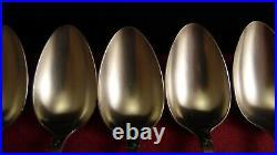 Ménagère Ercuis 25 pièces Art Nouveau métal argenté décor d'Iris, belle qualité
