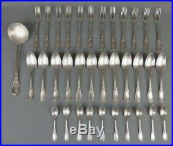 Ménagère Ercuis en métal argenté style rocaille art nouveau 37 pièces