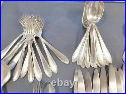 Menagere Metal Argente 61 Pieces Art Nouveau En Coffret