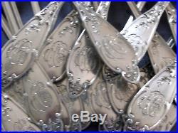 Ménagère argent massif art nouveau poinçon minerve 12 couverts