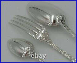 Ménagère de 36 pièces, modèle Maxim's, Iris, Art Nouveau, métal argenté
