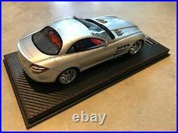 Mercedes SLR Mc Laren FrontiArt / Fronti-Art gris argent / silver grey 1/18
