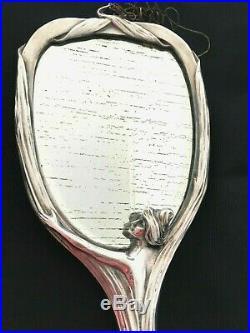 Miroir Art Nouveau Argent