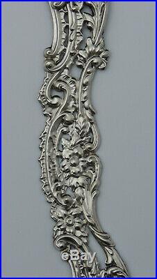 Miroir Cadre argent massif Henry Matthews Birmingham 1901 Art Nouveau Victorian