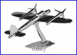 Módel d Avion maquette d´avion style antique art déco argenté 47cm