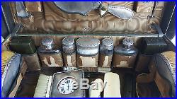 NECESSAIRE de VOYAGE Synyer Birmingham 1907 Argent Silver Toilette XIXe Valise O