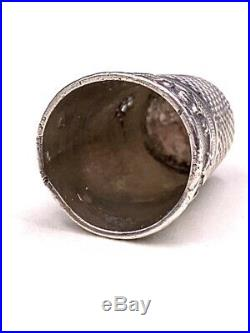 Nécessaire à couture en argent Art Nouveau décor iris c. 1905 silver sewing kit