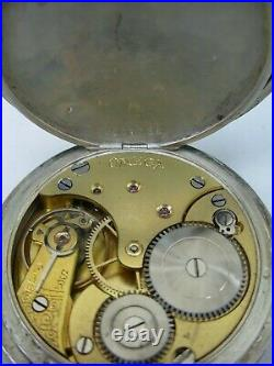 OMEGA montre à gousset GRAND PRIX PARIS 1900 boitier Art Nouveau en argent