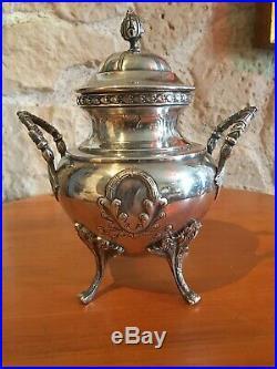 ORFEVRE ROUX MARQUIAND SERVICE THE CAFE METAL ARGENTE Art Nouveau