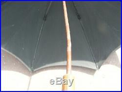 Ombrelle Parapluie Art Nouveau en Argent Massif Visage de femme Silver Silber
