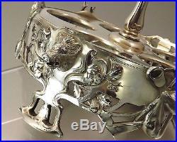 Orfevrerie Wmf Monture De Serviteur En Metal Argente Decor Cynegetique Vers 1900