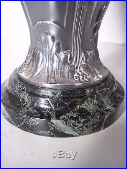 PAIRE de Vases GALLIA CHRISTOFLE Art Nouveau Métal Argenté circa 1900