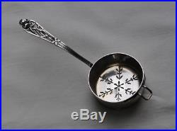 PASSE THE EN ARGENT MASSIF ART NOUVEAU IRIS Sterling Silver Tea Strainer