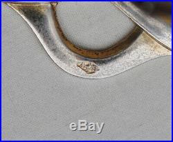 PORTE MENU EN ARGENT MASSIF ART NOUVEAU HOUX Sterling Silver Menu Holder