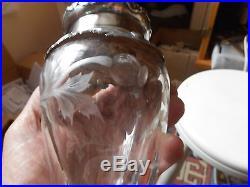 Pot En Cristal Monte Argent Decor Pavot Epoque Art Nouveau